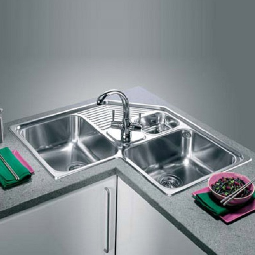Perfect Corner Kitchen Sinks Stainless Steel 500 x 500 · 55 kB · jpeg